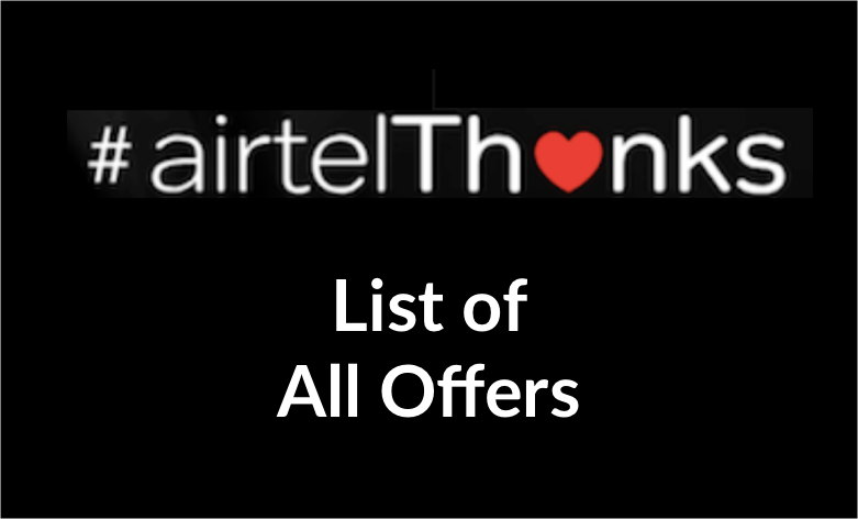 Airtel Thanks Offer-Zee5, Amazon Prime, Netflix & Other Offers | Free Airtel TV Premium & 8 more offers watch online