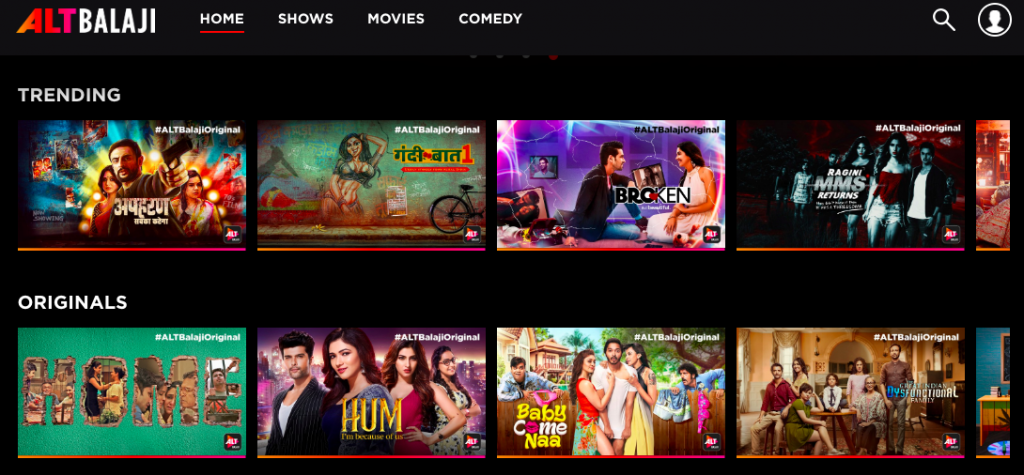 AltBalaji Free Shows Available online