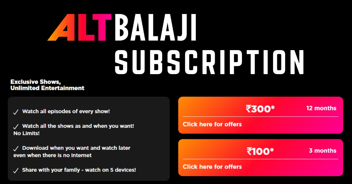 ALTBalaji subscription