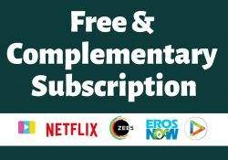 free & complementary subscriptions