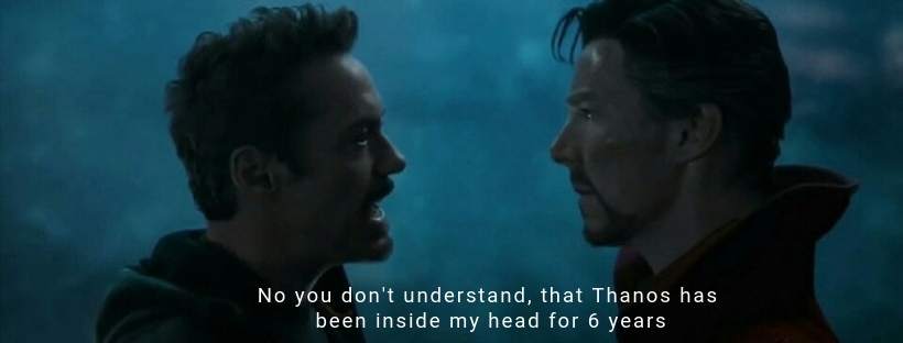 Thanos Inside Tony's Head