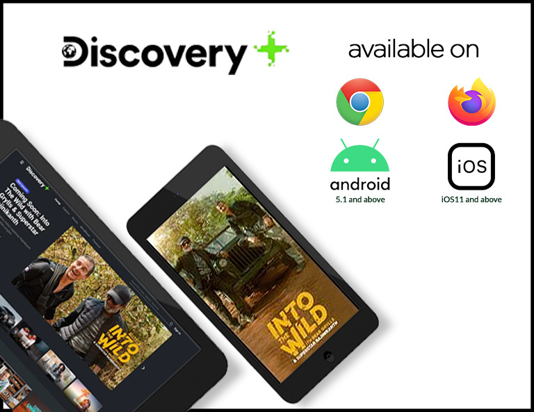 Discovery Plus - Available on Chrome, Firefox, Android, and iOS
