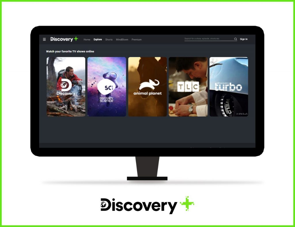 Watch Exclusive Content on the 'Explore' page of Discovery Plus