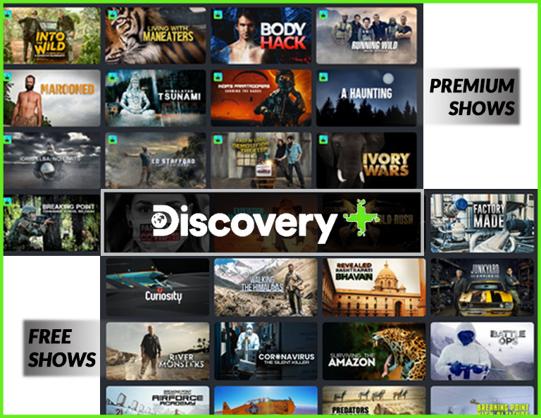 Popular Premium and Free Shows on Discovery Plus