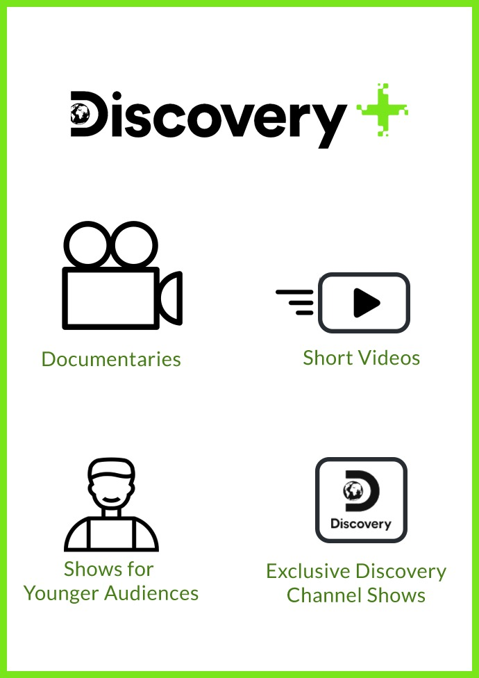 Watch Documentaries, Short Videos, Exclusive Disney Shows, and Content for Young Audiences on Discovery Plus