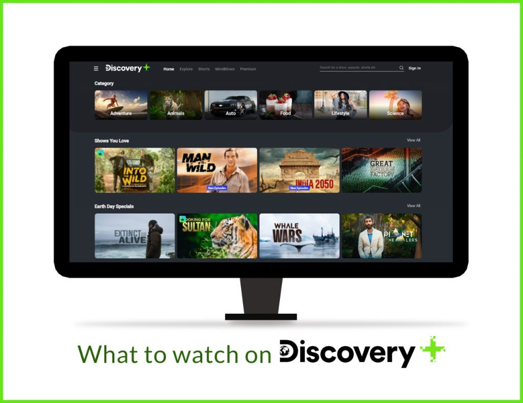 What to Watch on Discovery Plus - Documentaries, shorts, tv shows, and more.