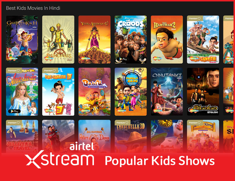 Airtel Xsteam Kids Shows
