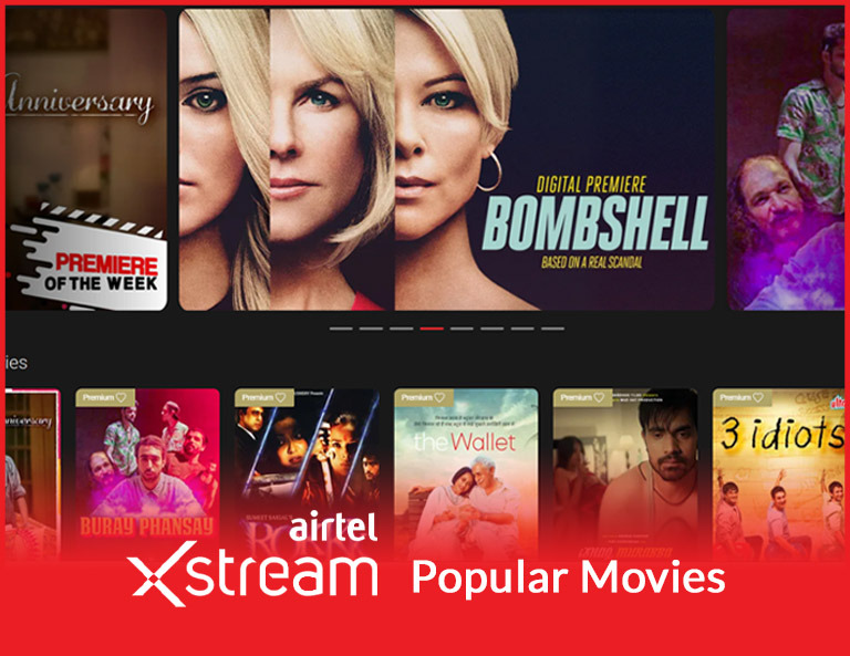 Airtel Xstream Movies