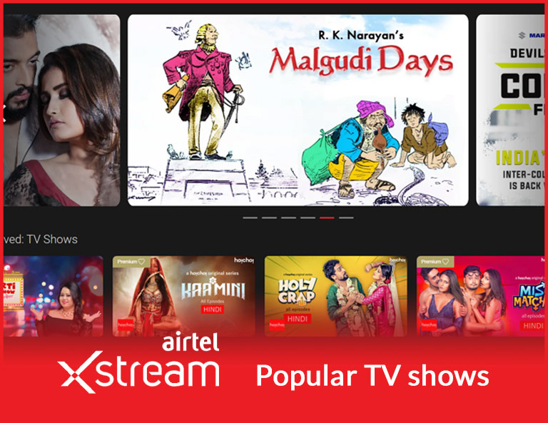 Airtel Xstream popular TV shows