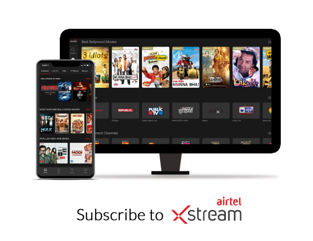 Subscribe to Airtel Xstream through website or app